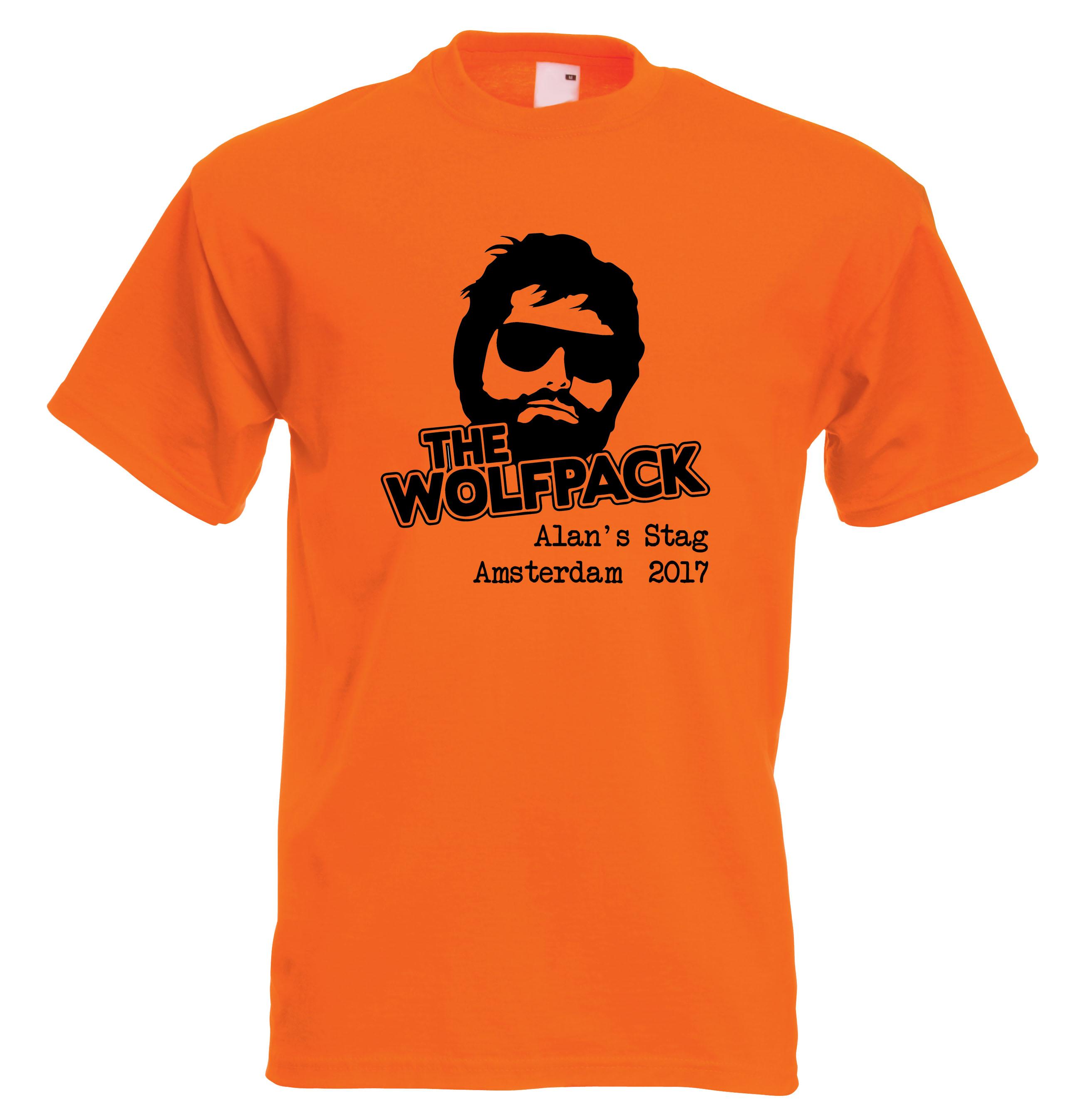 01e49aec Wolfpack Stag Do Personalised T Shirt Hangover Custom Design | eBay